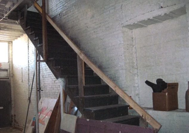 Kansas City crossroads art district staircase where our client was injured
